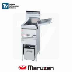 Maruzen Cool Kitchen Series Commercial Gas Deep Fryer (Depth 450mm) Reliable Heat Protector Energy Saving Mechanism Productivity Cooker