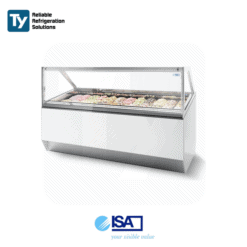 ISA Millennium Straight Glass Gelato Display Freezer