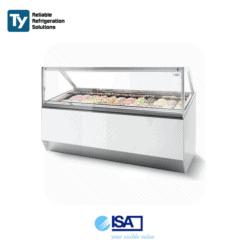 ISA Millennium Straight Glass Gelato Display Freezer