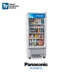 PANASONIC Single Glass Door Beverage Bottle Drink Chiller Commercial Merchandiser Refrigerator Fridge 0~10°C