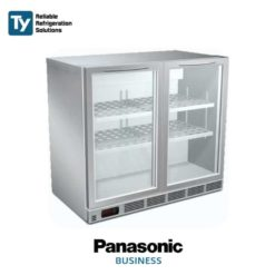 PANASONIC BAR BEVERAGE CHILLER Commercial Stainless Steel Merchandiser Display Refrigerator Fridge | BR-2U(E)/BR-3U(E) - 3 Door